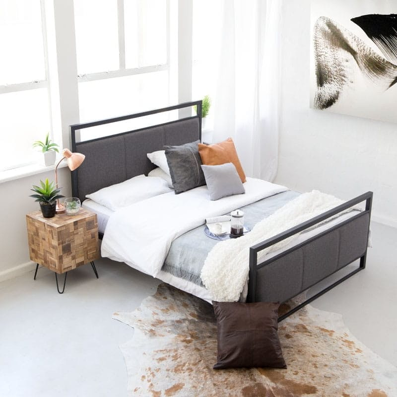 Contemporary Metal Bed Base