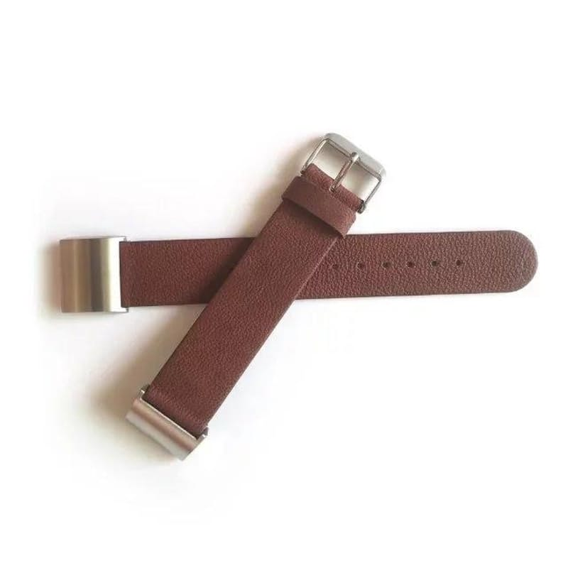 Unisex Plain Leather Replacement Strap for Fitbit Charge 2