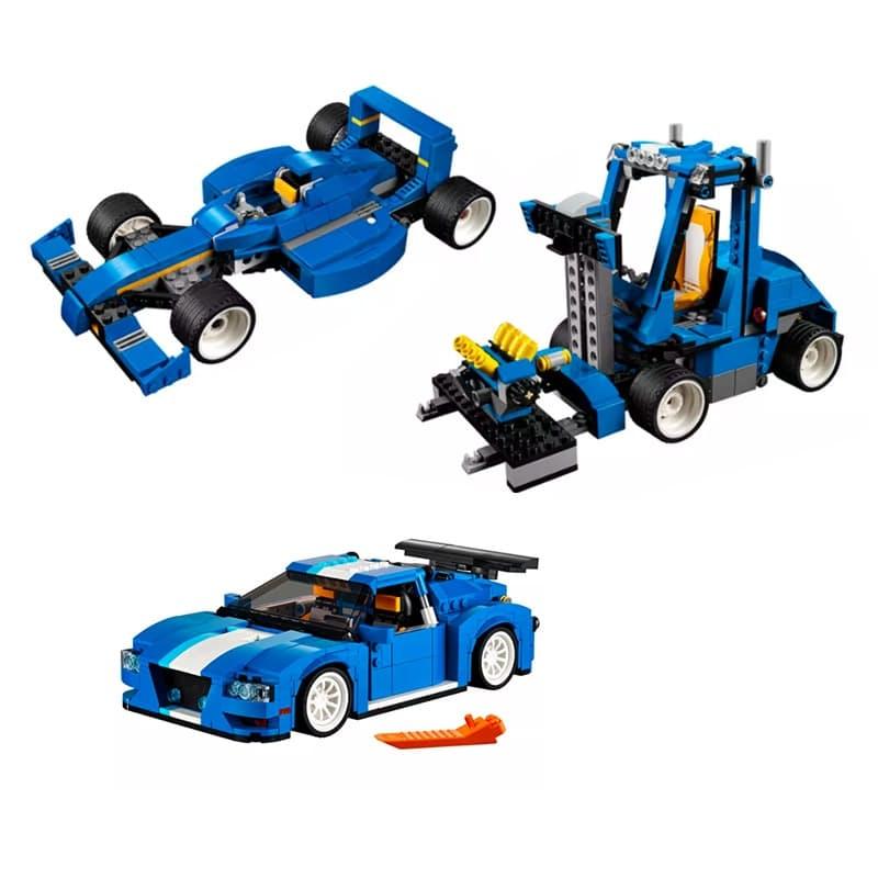 670-Piece 3-In-1 Creator Turbo Track Racer