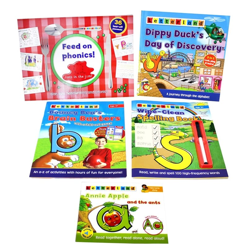 Educational Bundle (5 Books with Wipe-Clean Pen)