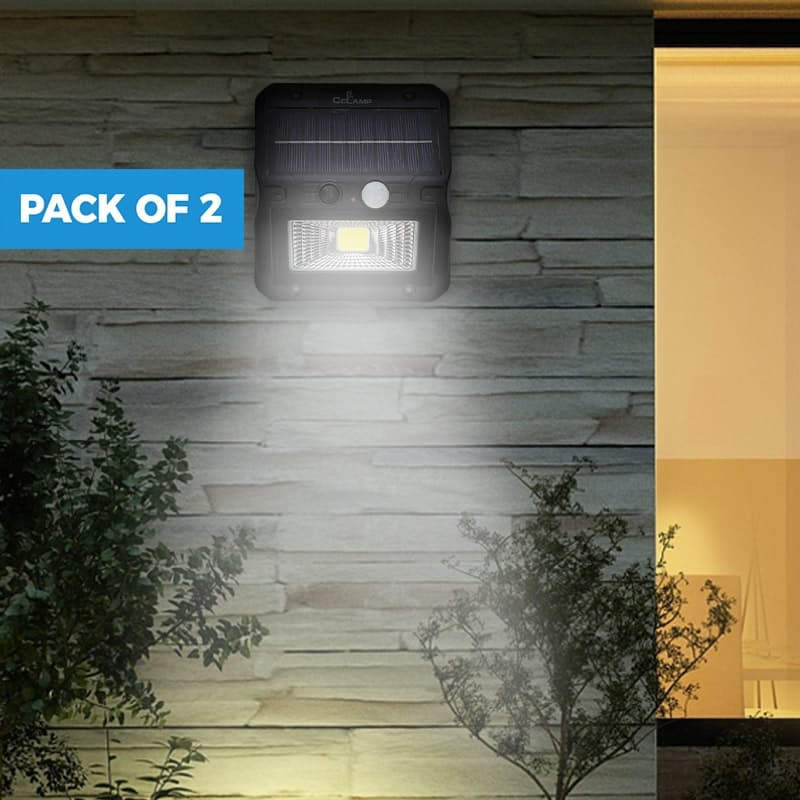 Pack of 2 Outdoor LED Waterproof Solar Lights