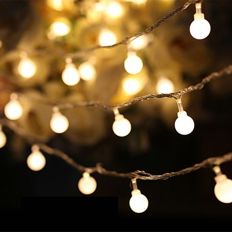 20 Micro LED Warm White Ball String Lights (3.5m)