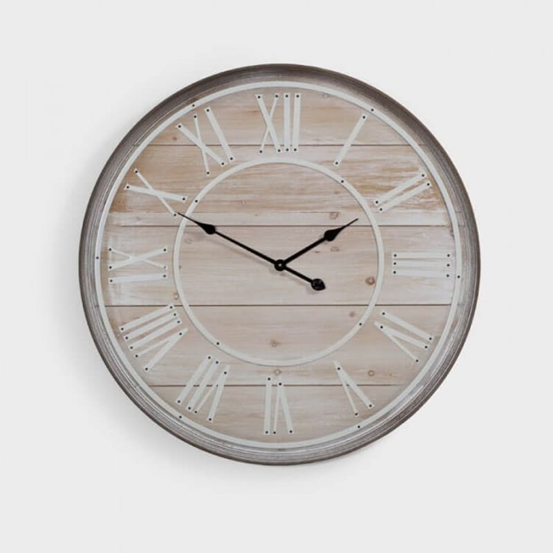 Large Wooden MDF Wall Clock - 80cm x 80cm