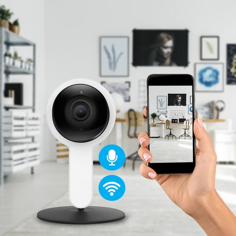 Smart Wifi Indoor Camera with Motion Detector Microphone and Speaker