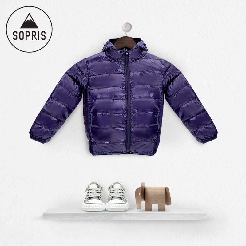 Kids Navy Light Down Jacket