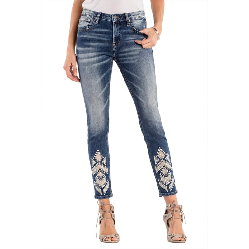 Down To Shine Mid Rise Ankle Skinny Jeans