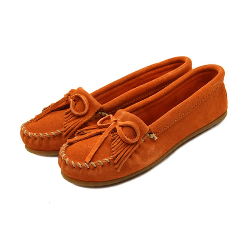 Genuine Leather Suede Kilty Moccasins (multiple colours available)