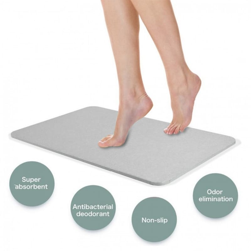 Earth Self Drying Hygienic Bath Mat (3 Colours Available)