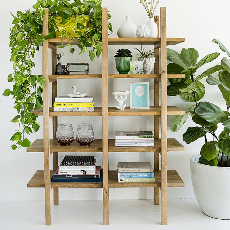 150cm Mango Wood Bookshelf