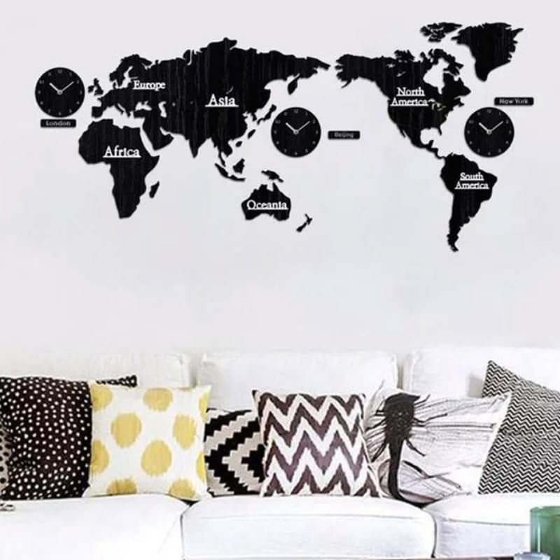 DIY 3D World Map Clock with Multiple Time Zones
