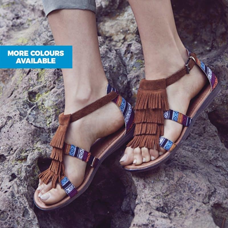 Maui Genuine Leather Suede Sandals
