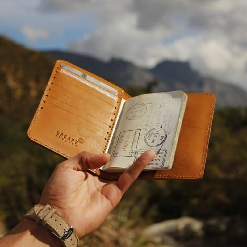 Premium Full Grain Leather Passport Holder
