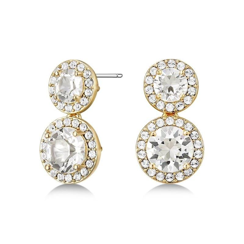 Alexa Drop Earrings with Swarovski Crystals