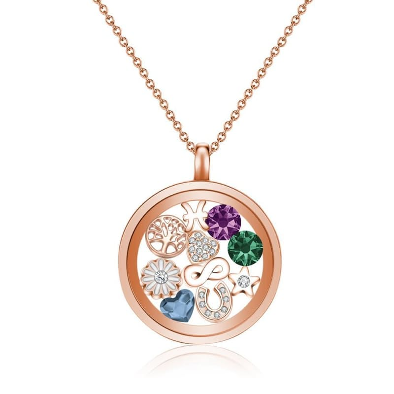 Magical Moments Floating Charm Locket Necklaces with Crystals from Swarovski