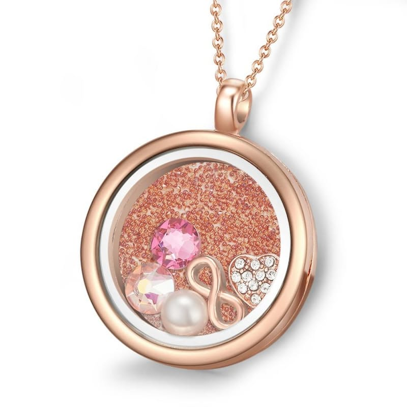 Magical & Mystical Moments Floating Charm Locket Necklaces with Crystals from Swarovski