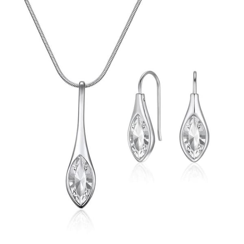 Amelie Necklace & Earrings Set with Swarovski Crystals