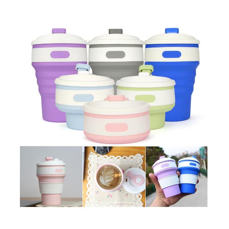 350ml Folding Travel Mug (Multiple Colours Available)