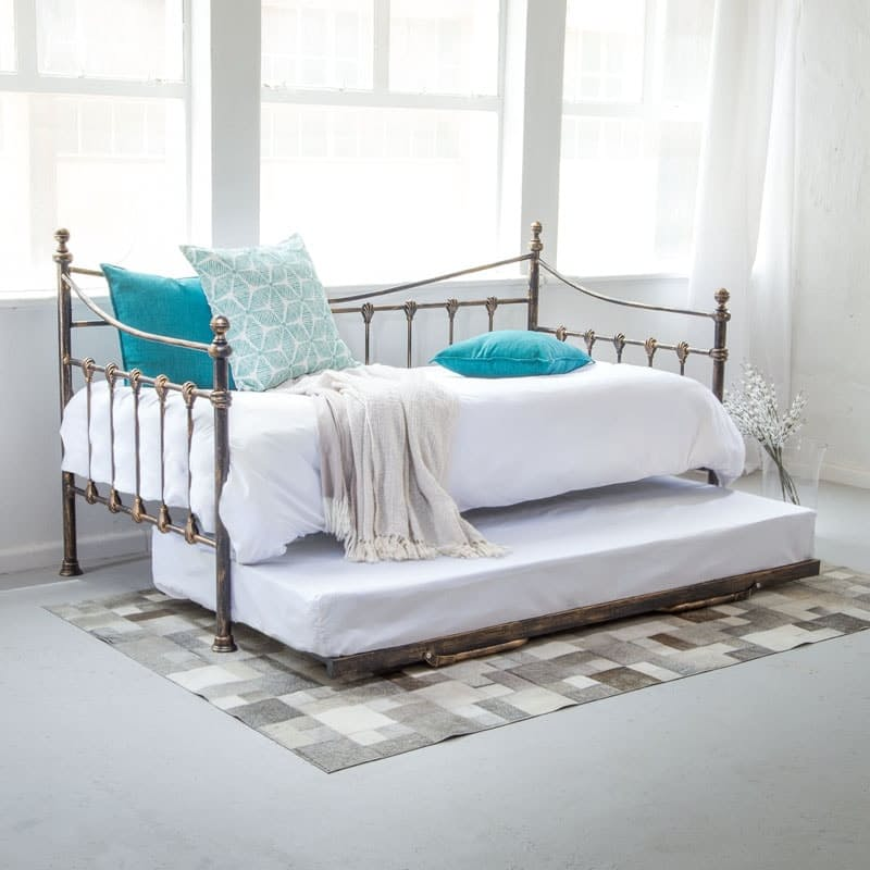 Classical French Day Bed with Trundle Bed