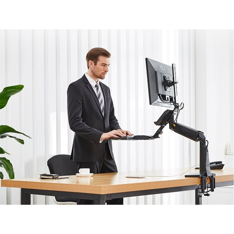 Sit-Stand Monitor Table or Wall Mount