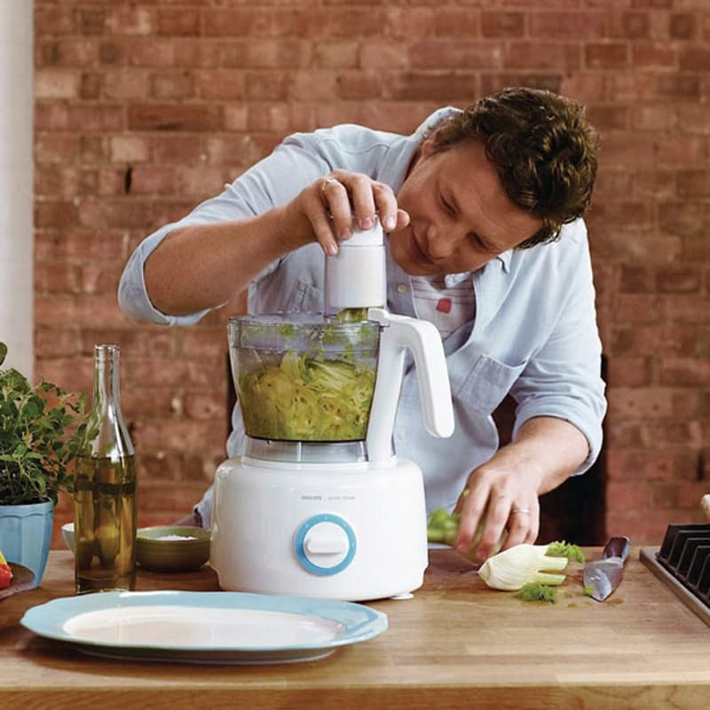 Philips HR7782/01 Jamie Oliver Food Processor, 1000 Watt