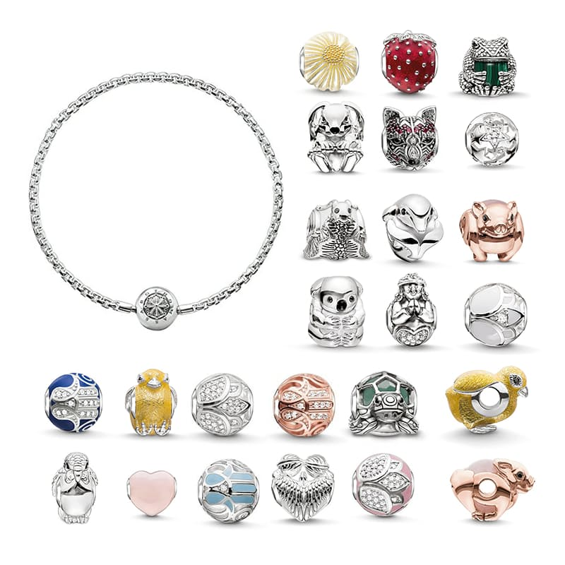 on sale most popular designer fashion 45% off on Thomas Sabo Personalised Silver Karma Beads Bracelet ...