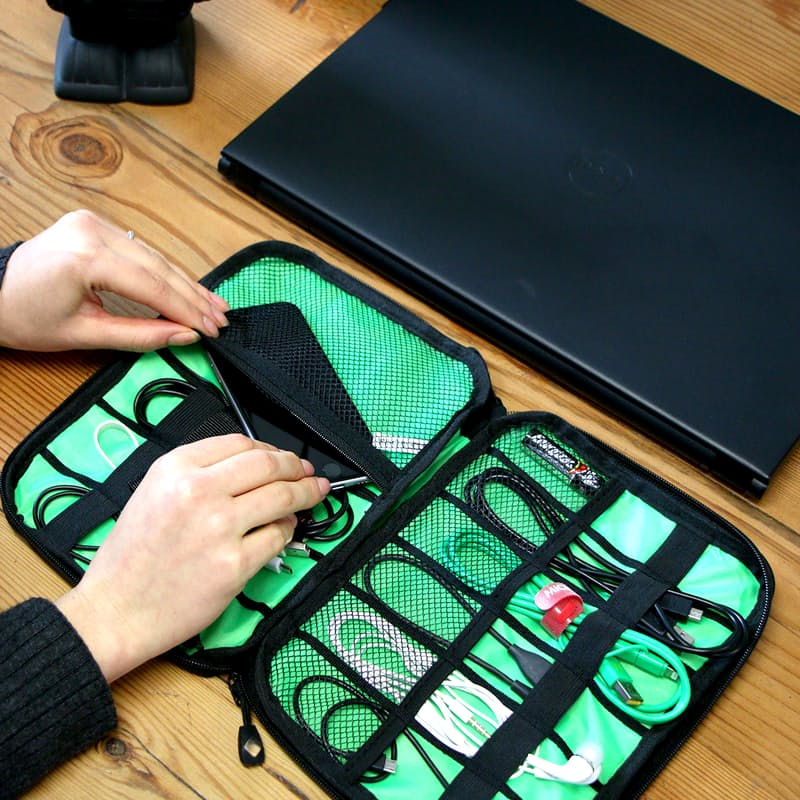 Electronics Organiser Travel Gadget Bag for Cables, Memory Cards, Hard Drives and more!