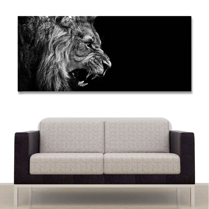 Lion Roars Canvas