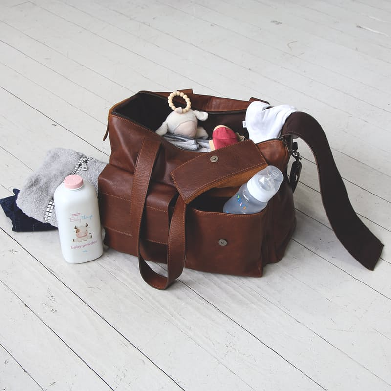 Genuine Leather Mason XL Nappy Bag
