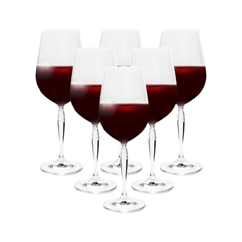 Set of 6 - Keira Crystal Wine Glasses (340ml or 440ml)