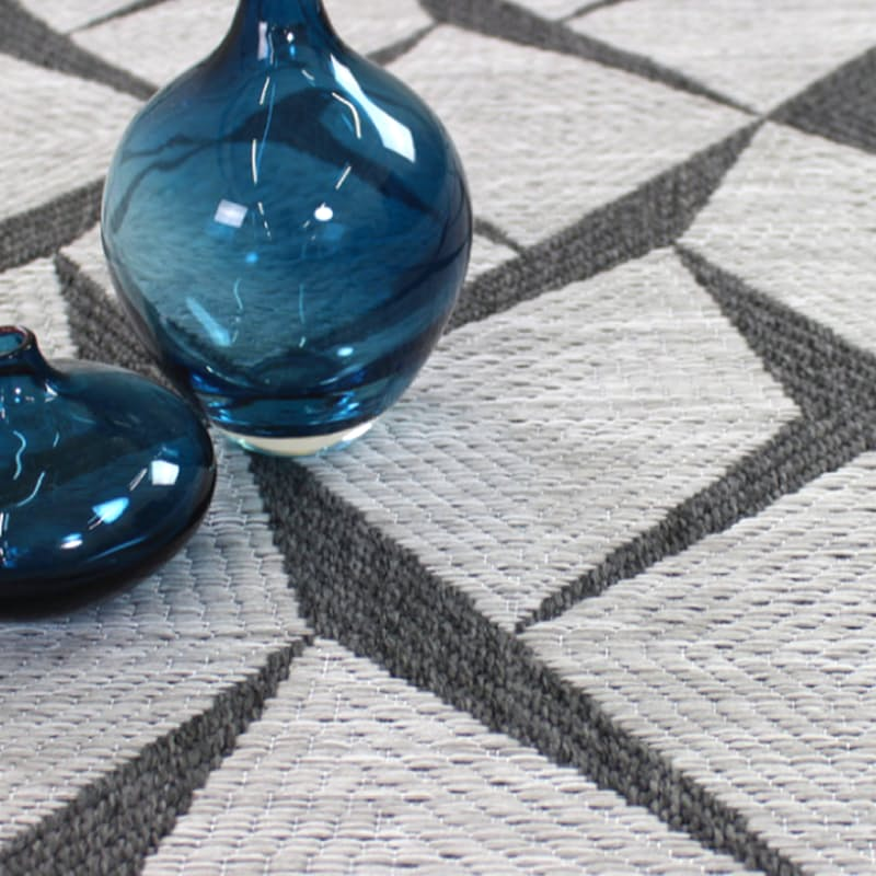 Jersey Collection Indoor Outdoor 100% Flatweave Polypropylene Rugs (Multiple Sizes Available)