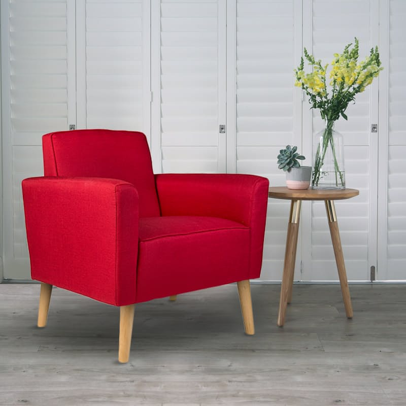 Red Occasional Camden Arm Chair