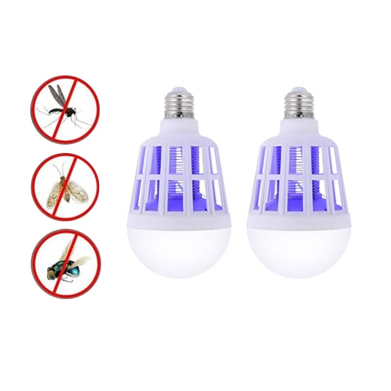 Pack of 2 Indoor and Outdoor Mosquito Killer Light Bulbs