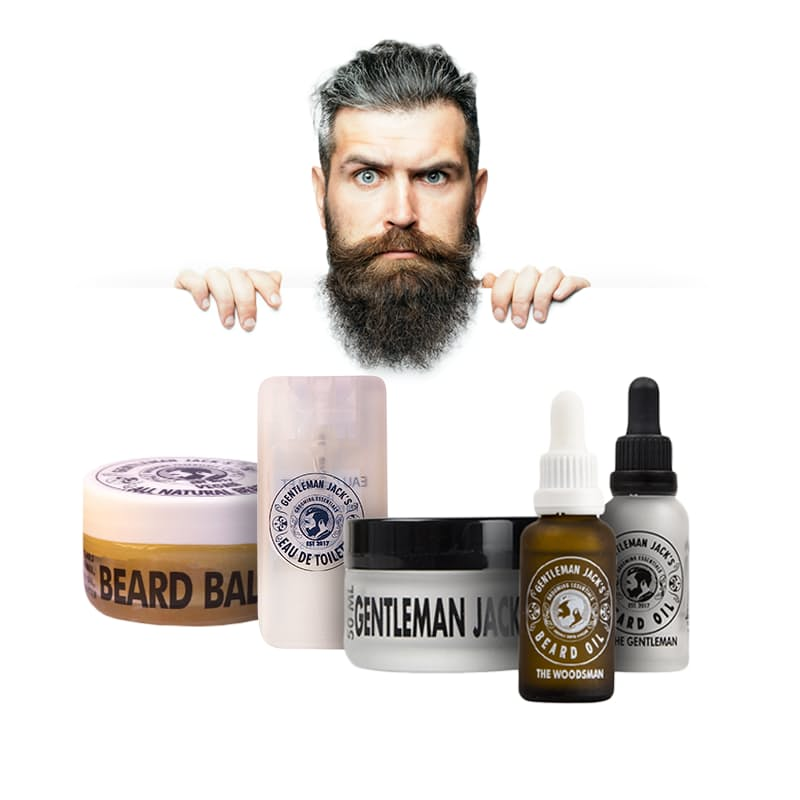 Men's Essential 5 Piece Grooming Kit (2 beard oils, 1 Hair Pomade, 1 Vegan Beard balm, 20ml Cologne)