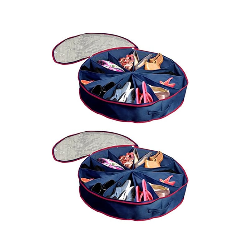 Pack of 2 Shoe Organizing Expandable Storage Divider