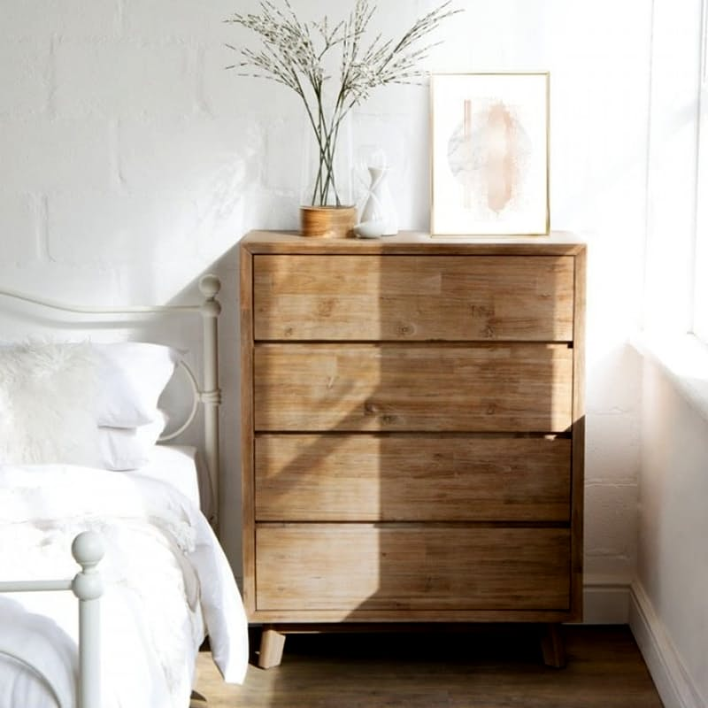Acacia Wood Chest of Drawers