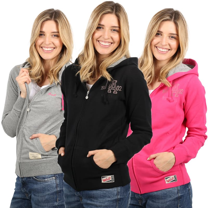 Ladies Print Zip Through Hoodie