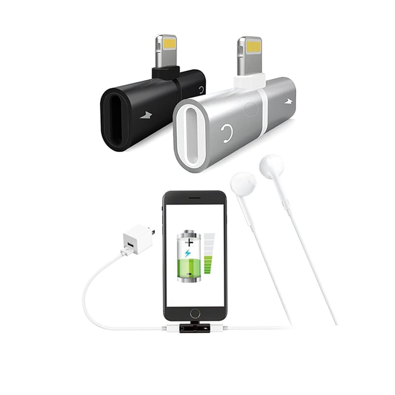 iOS Lightning Splitter to Simultaneously Charge & Play Music