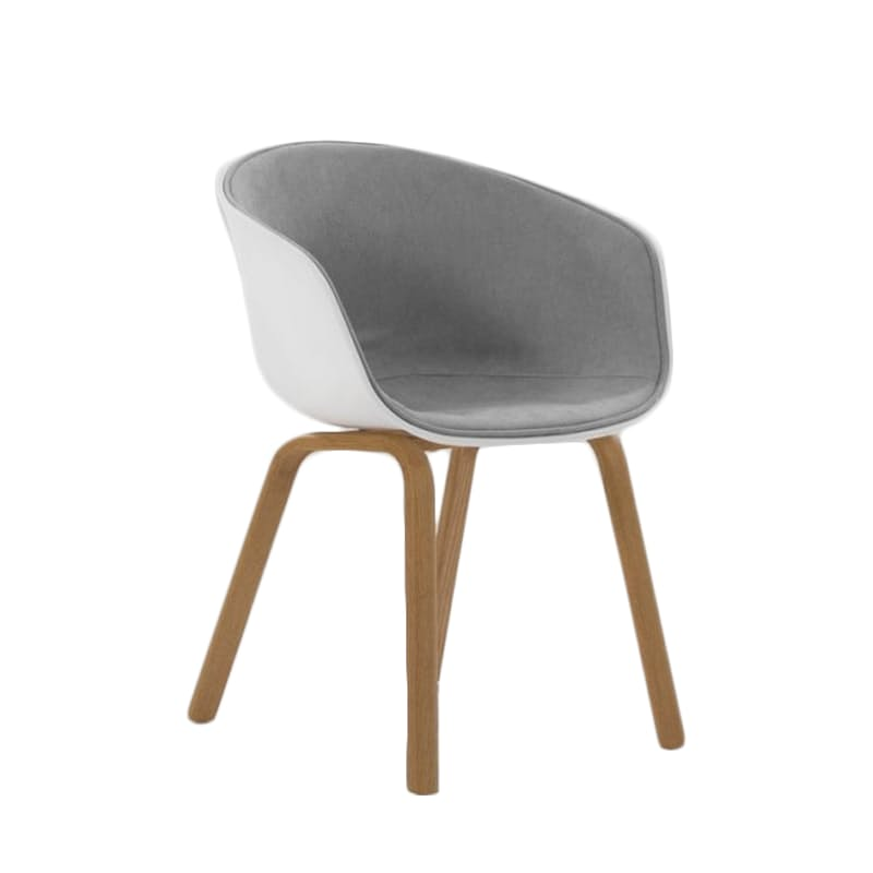 Classic White & Grey Dining Chair