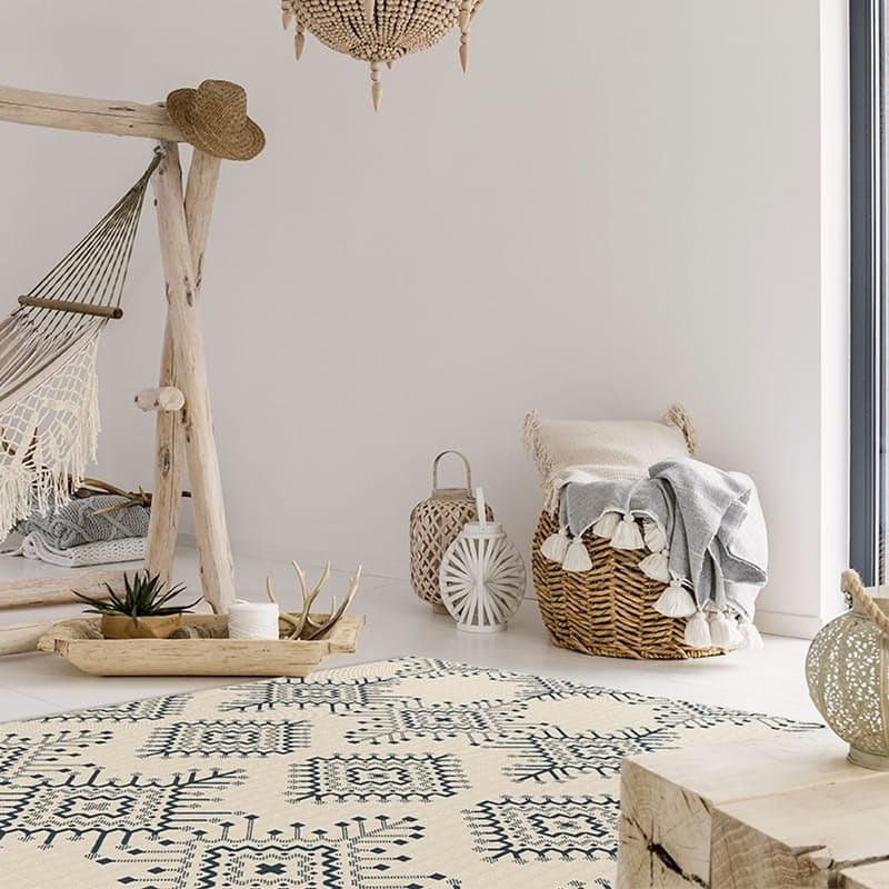 Cottage Collection Indoor 100% Flatweave Polypropylene Rugs (Multiple Sizes Available)