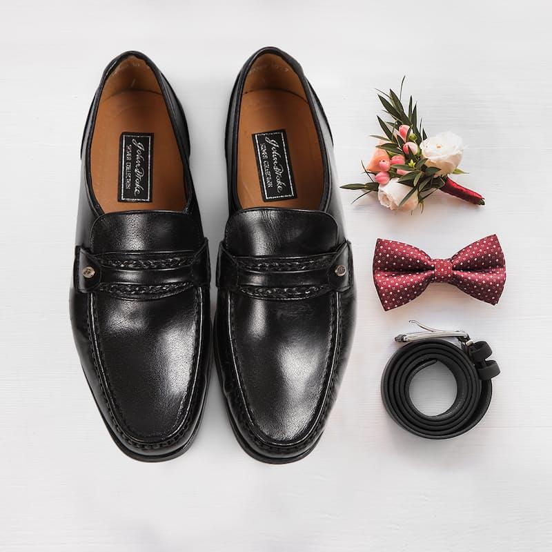 Genuine Leather Formal Black Shoes