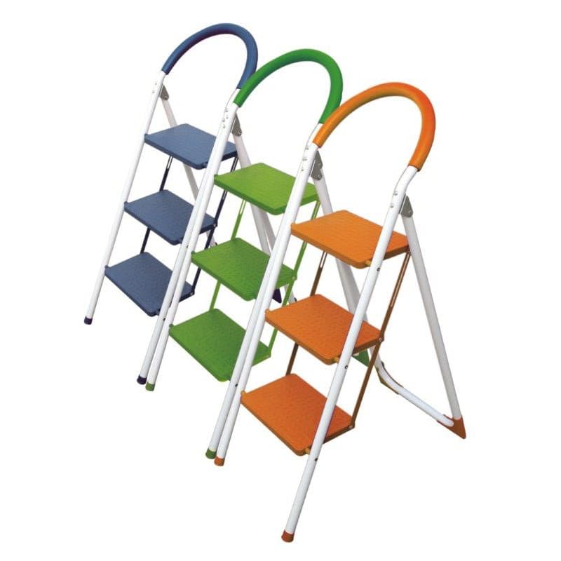 Durable Multi-coloured 2 or 3 Step Curved Ladder