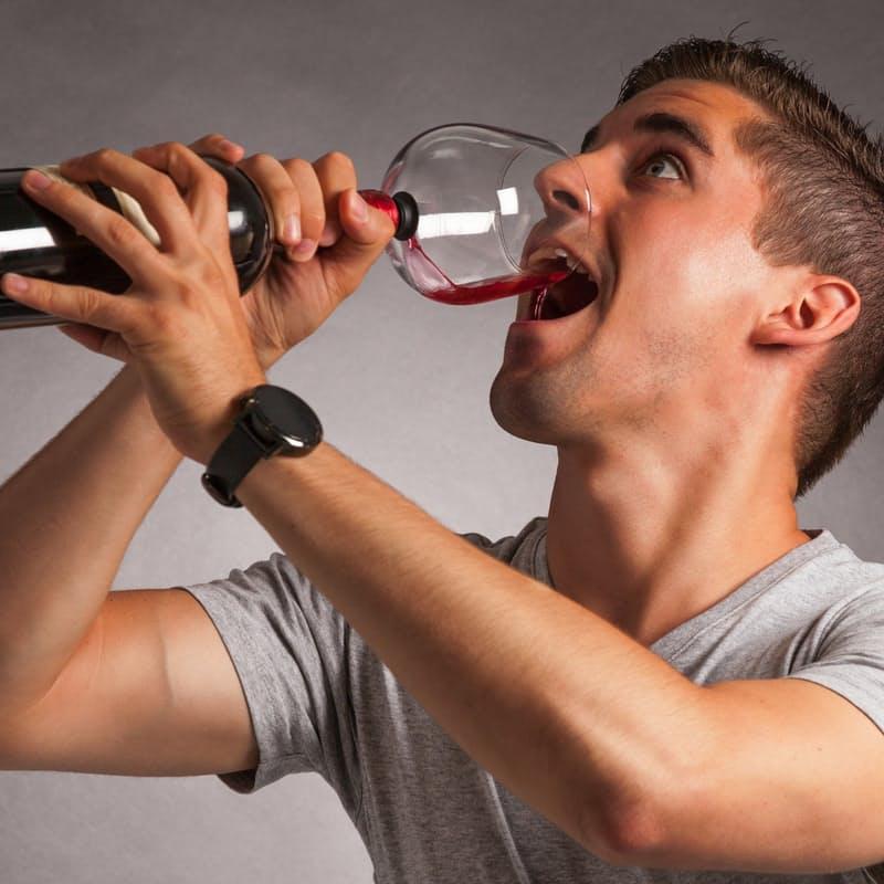 Wine Bottle Glass Attachment