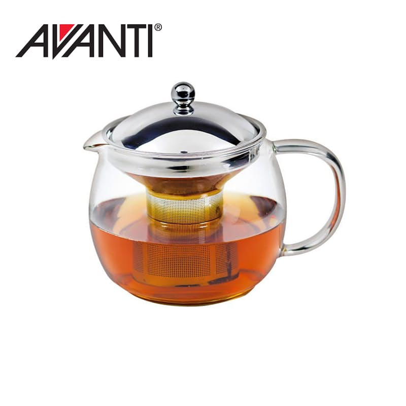 Ceylon Glass Teapot with Stainless Steel Infuser (1.25L)