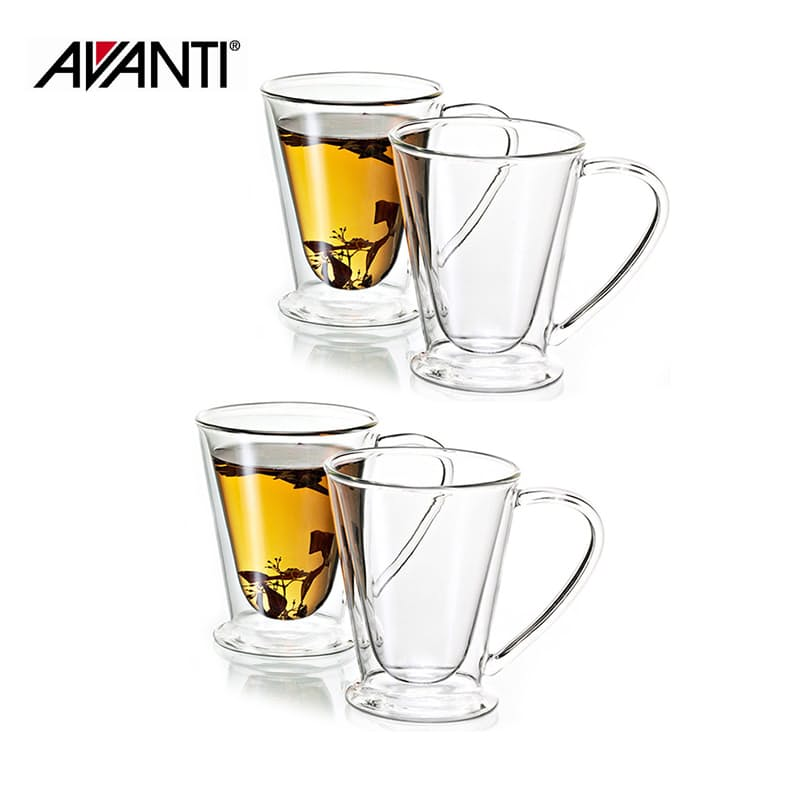 Set of 4 250ml Hero Double Wall Glasses