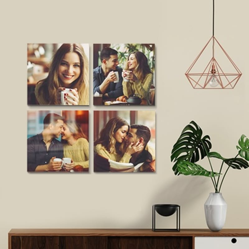 4 x 200x200mm Square Photo-To-Canvas Prints