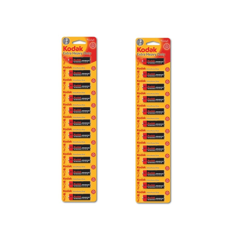Pack of 24 Zink Extra Heavy Duty AA or AAA Batteries
