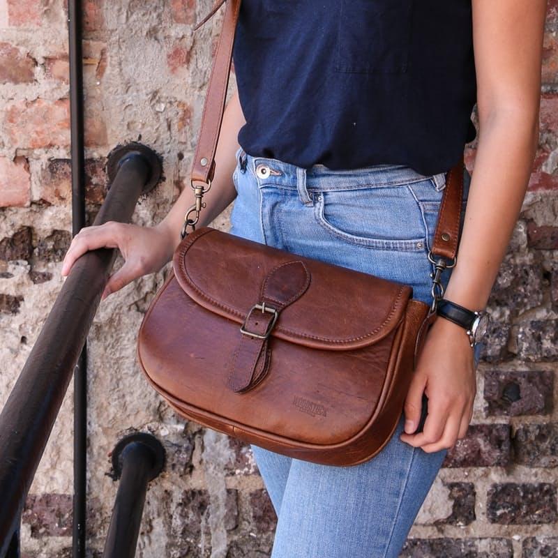 Genuine Leather Amelia Saddle Bag