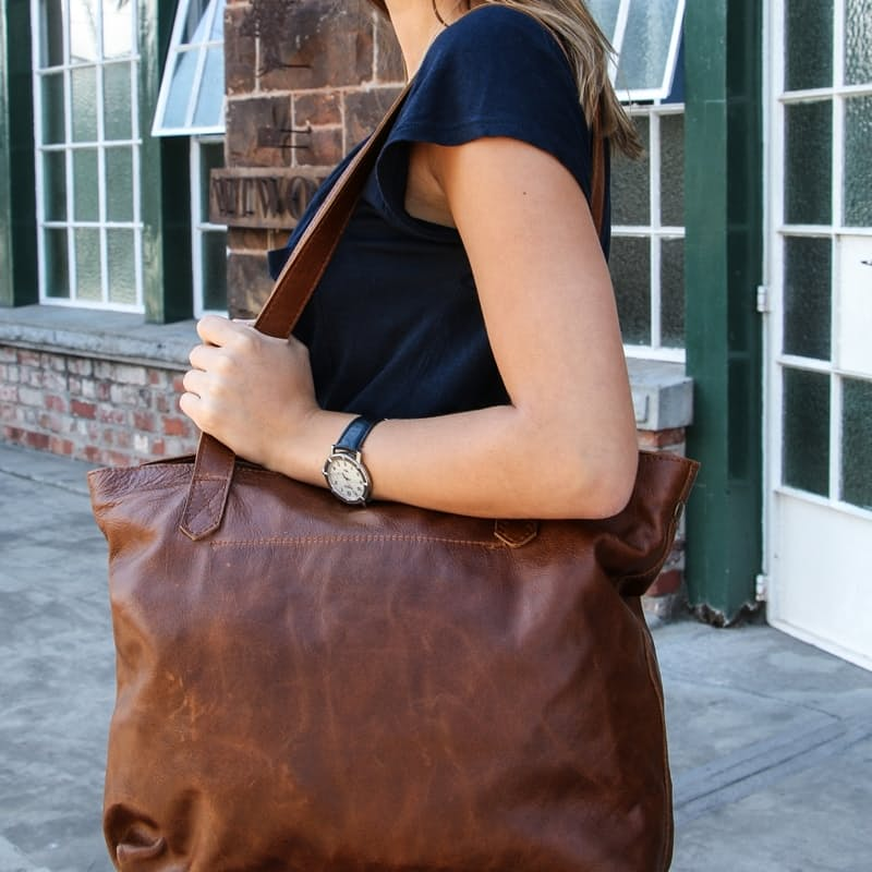Genuine Leather 2-in-1 Shopper Bags