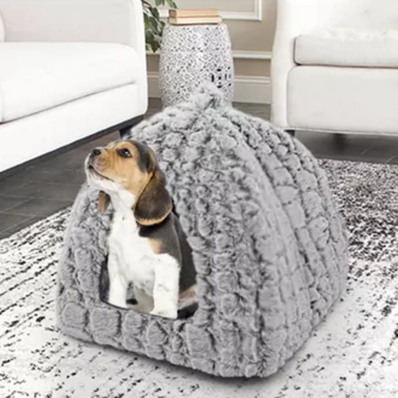 Snakeskin Plush Pet House