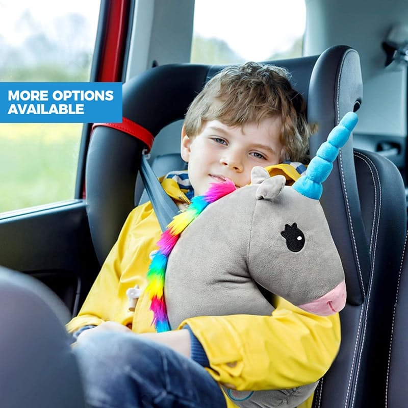 Kids Soft Stuffed Travel Pillows With Seat Belt Covers
